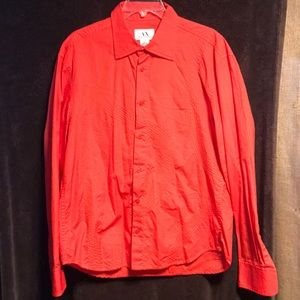 Lightly worn Armani exchange bright red shirt
